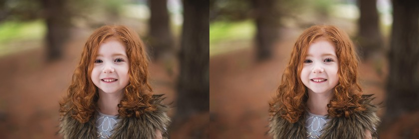 side by side comparison with and without reflector by Winnie Bruce