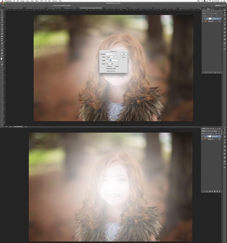 white gradient layer in Photoshop by Winnie Bruce