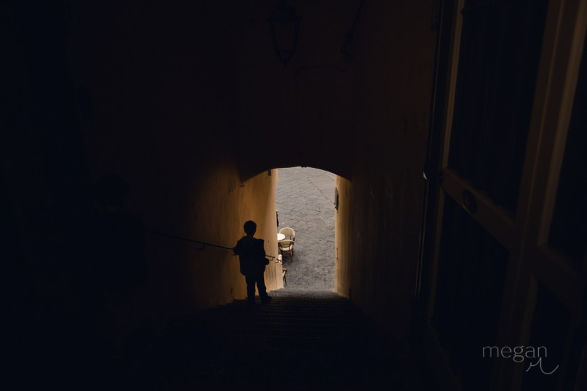 12 Young boy in silhouette in Amalfi by photographer Megan Cieloha