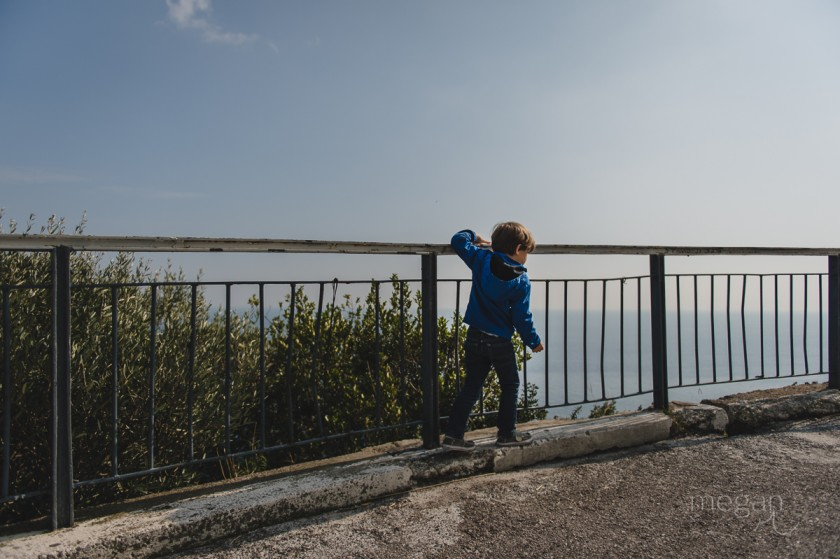 4.5 Young boy in full sun on the Amalfi coast by photographer Megan Cieloha