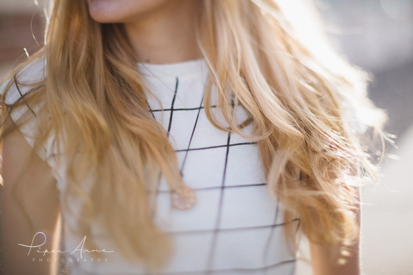 backlit photo of blonde hair by Piper Anne Photography