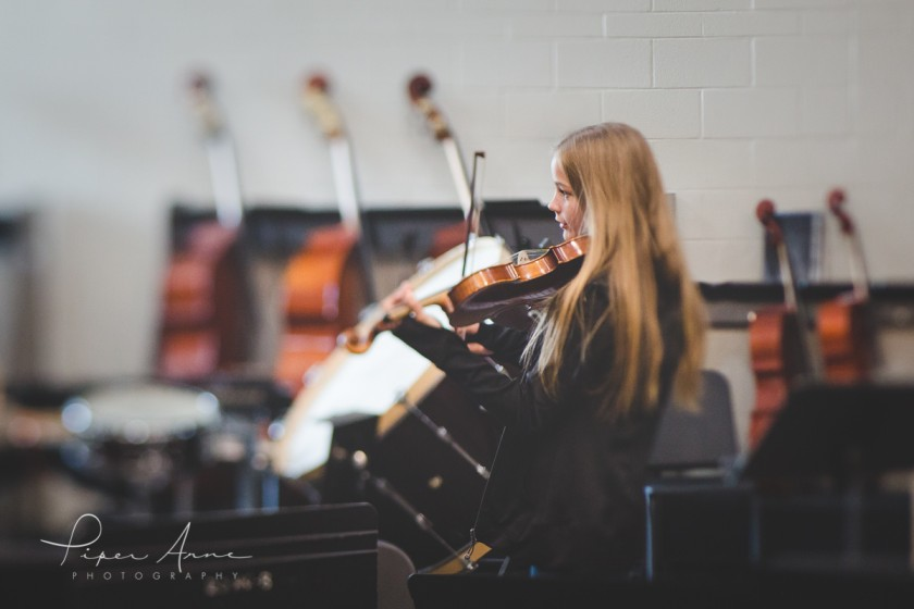 girl playing the violin by Piper Anne Photography