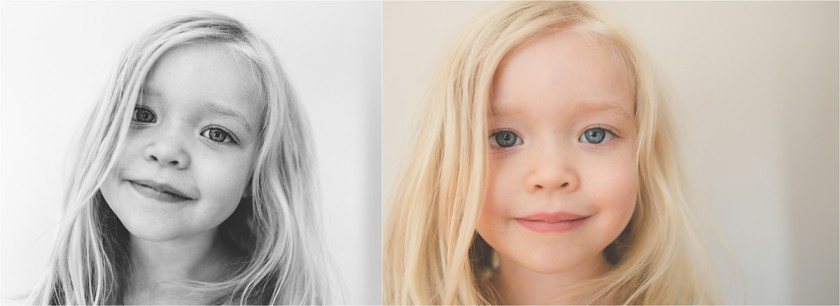 simple headshot of child by Tiffany Kelly