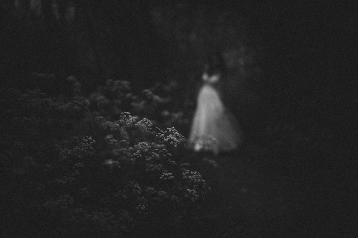black and white out of focus selfie by Jessica Lutz