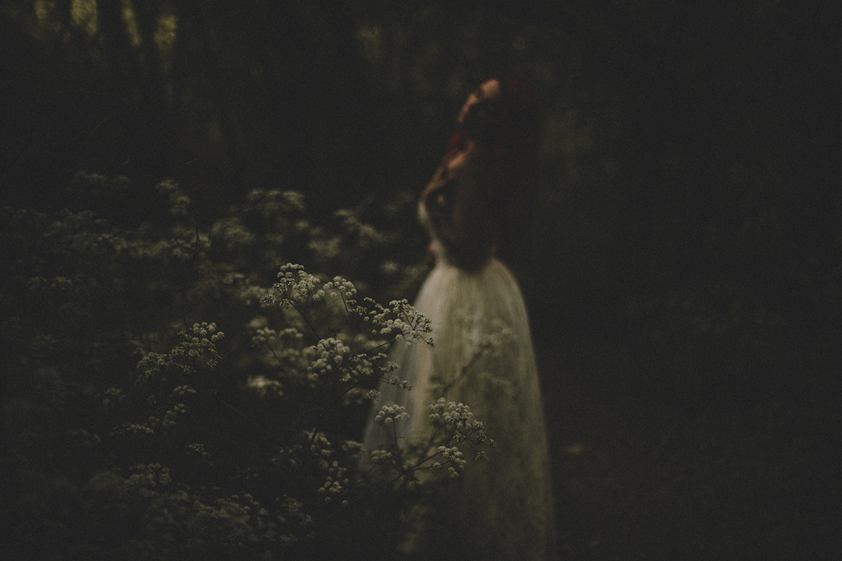 out of focus self portrait by Jessica Lutz