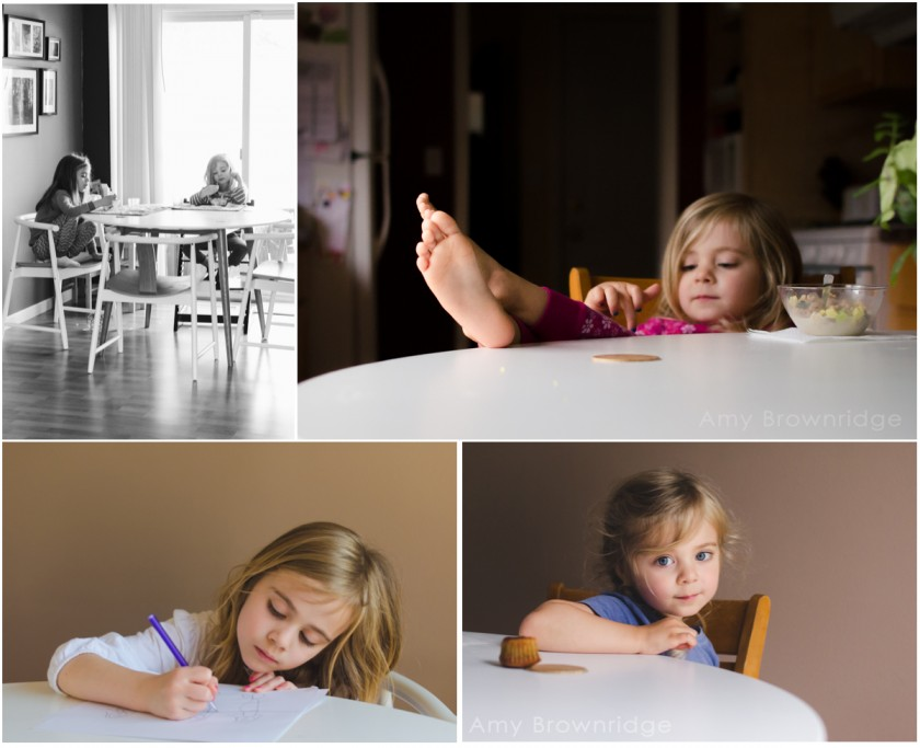 kids sitting at the table by Amy Brownridge