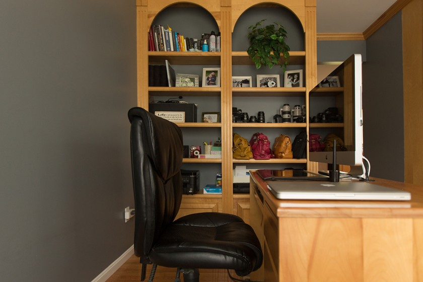 office area of photographer Lisa Harrison