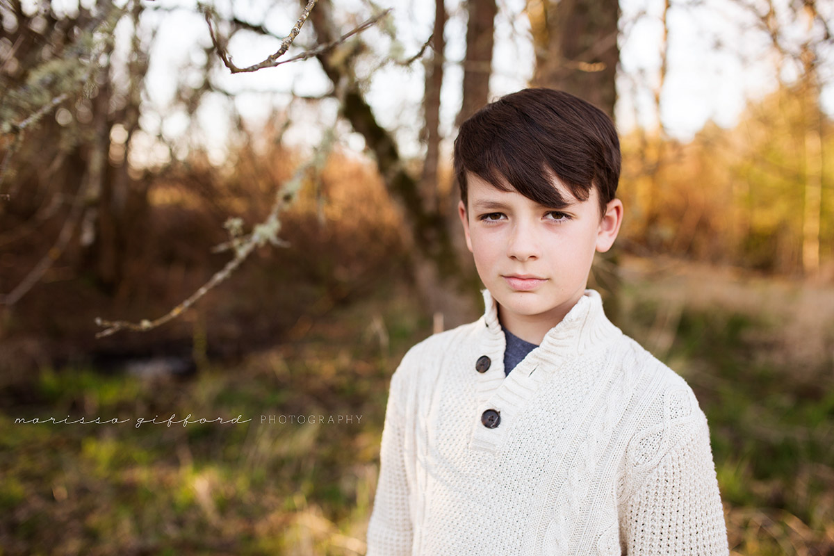 portrait of a boy outside by Marissa Gifford