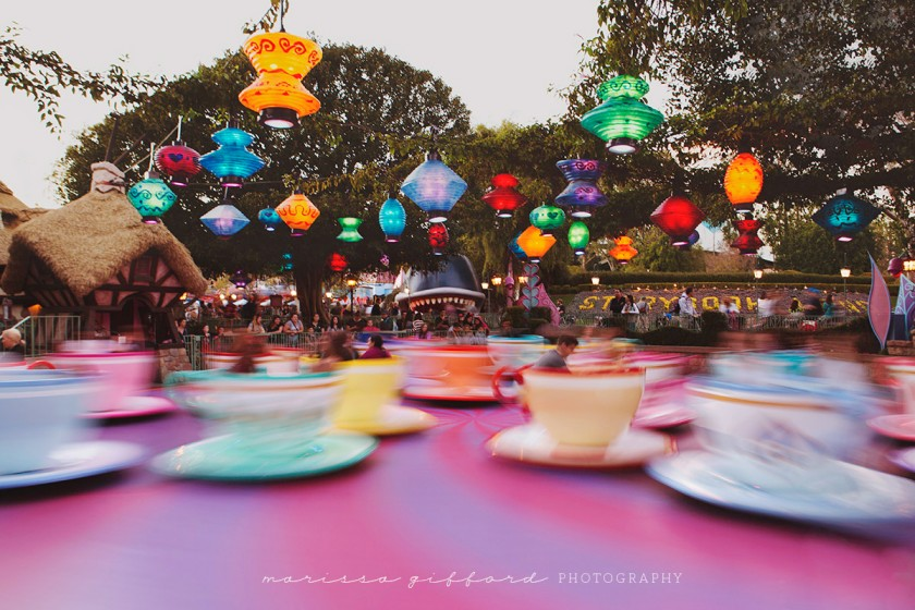spinning teacups ride by Marissa Gifford