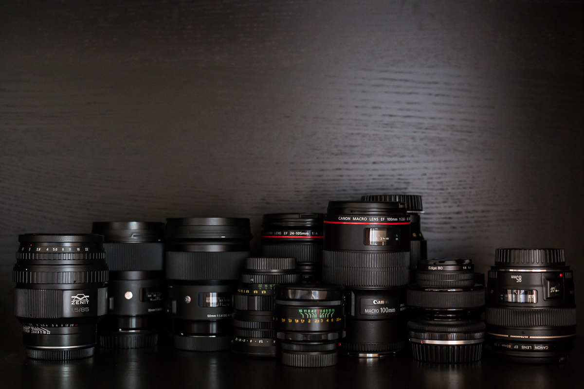 camera lenses of photographer Nina Mingioni