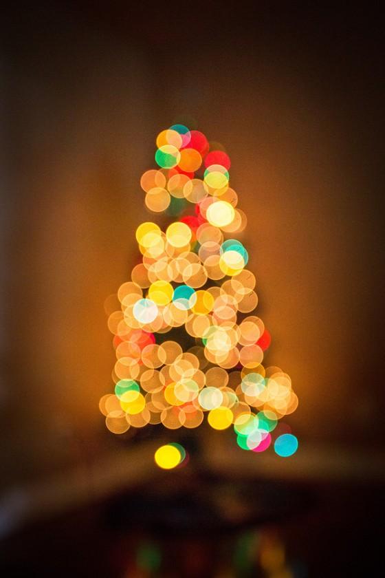 Christmas tree bokeh lights by Sally Molhoek
