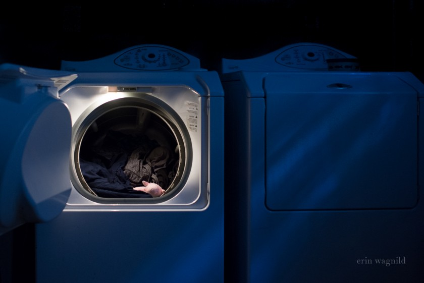 clothes in the washer and dryer by Erin Wagnild