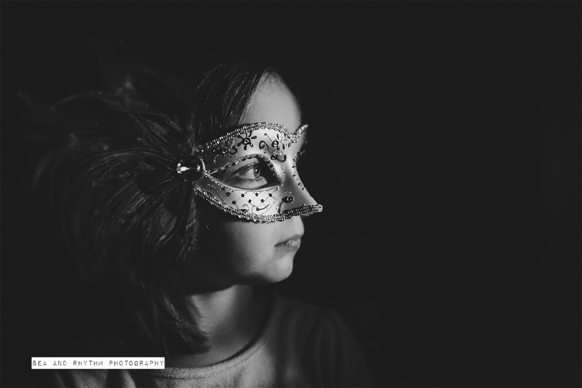 girl wearing a mask picture by Kris and Lauren Penland