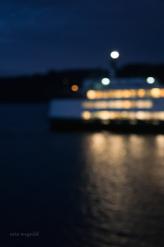 out of focus picture of lights on a boat by Erin Wagnild