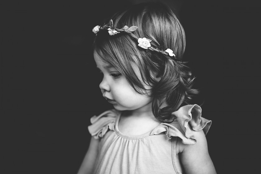 photo of toddler wearing a flower crown by Tiffany Kelly