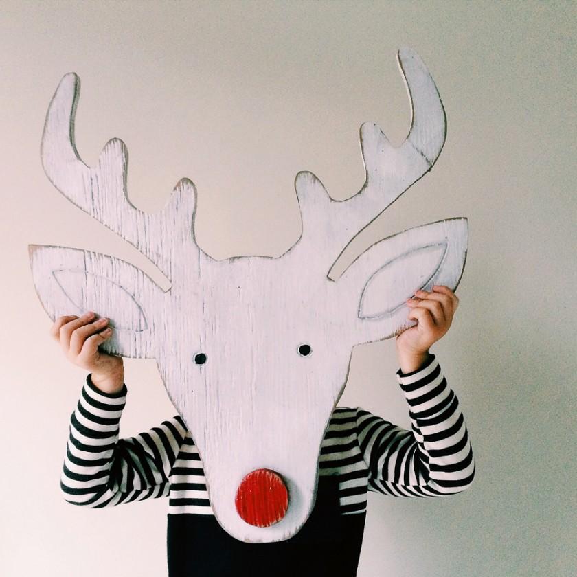 reindoor kids Christmas craft by Kristin Dokoza