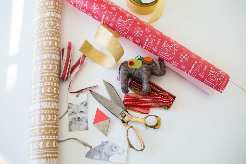 wrapping paper and decorations by Kristin Dokoza
