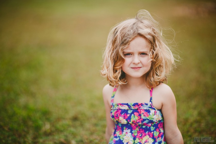 portrait of young girl without reflector by April Nienhuis