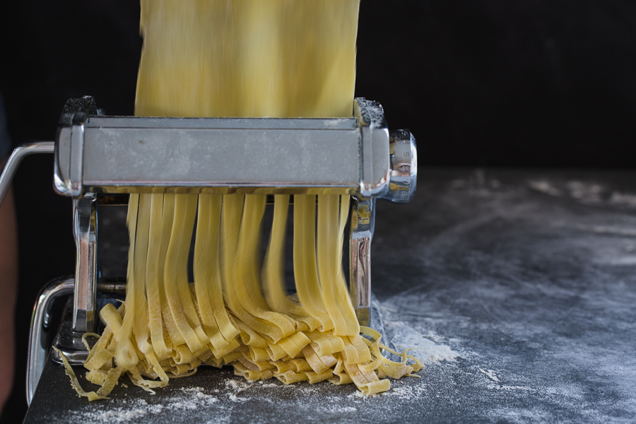 Motion-Blur-Created-by-Fresh-Pasta-Moving-through-Pasta-Maker-by-Rose-Hewartson