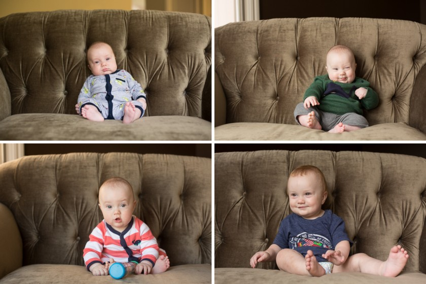 baby boy quarterly photographs by Gwen Papp