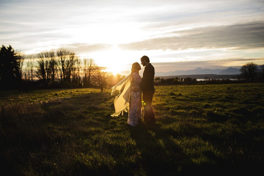 backlit silhouette of couple by Elena Blair