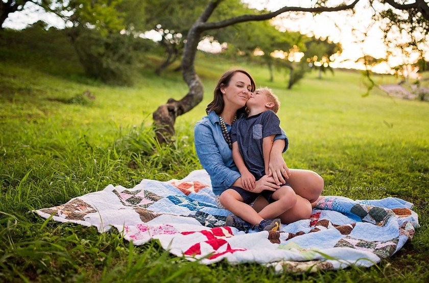 picture of a mom and her son by Allison Gipson