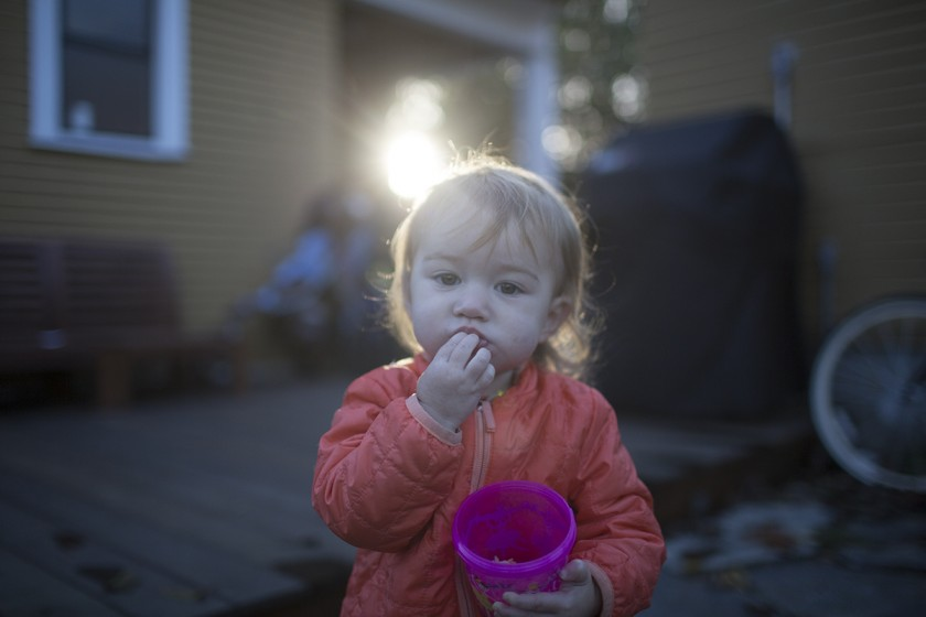 unedited picture of toddler eating by Elena Blair
