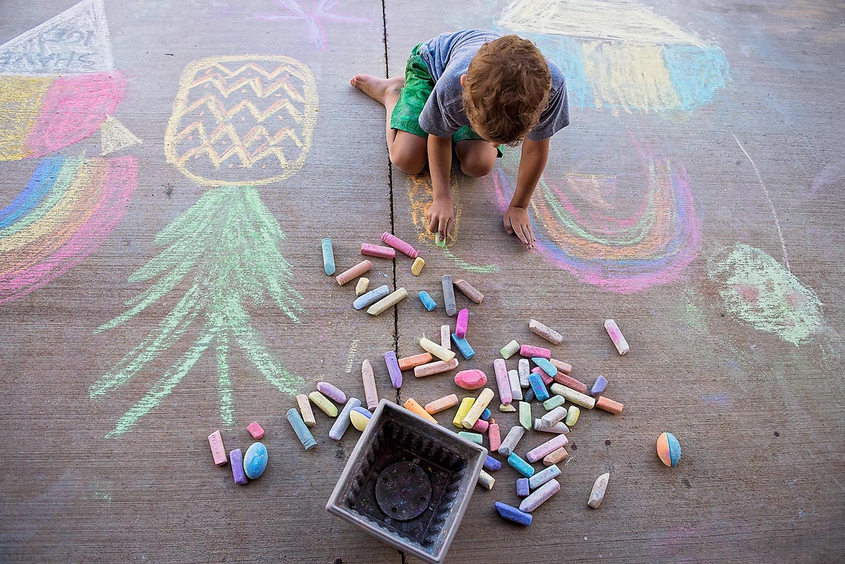 Child Drawing With Sidewalk Chalk By Allison Gipson Clickin Moms
