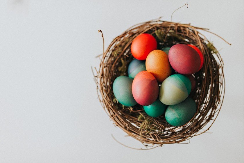 dyed brown Easter eggs by Winnie Bruce