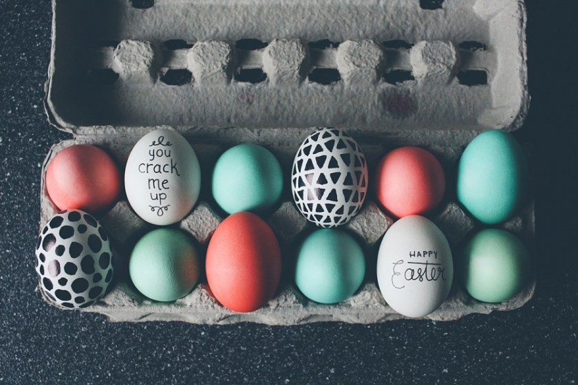 egg carton full of Easter eggs by Cassandra Casley