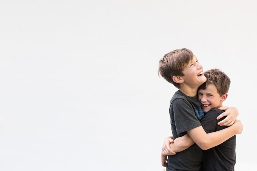 photo of brothers hugging by Kellie Bieser