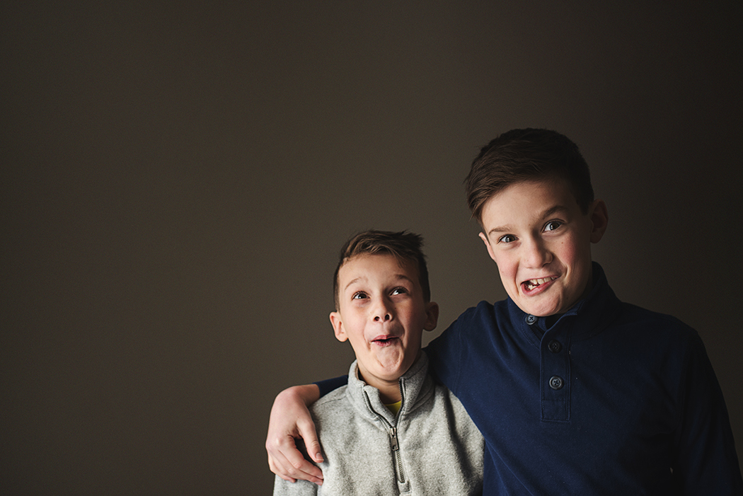 picture of boys making silly faces by Kellie Bieser