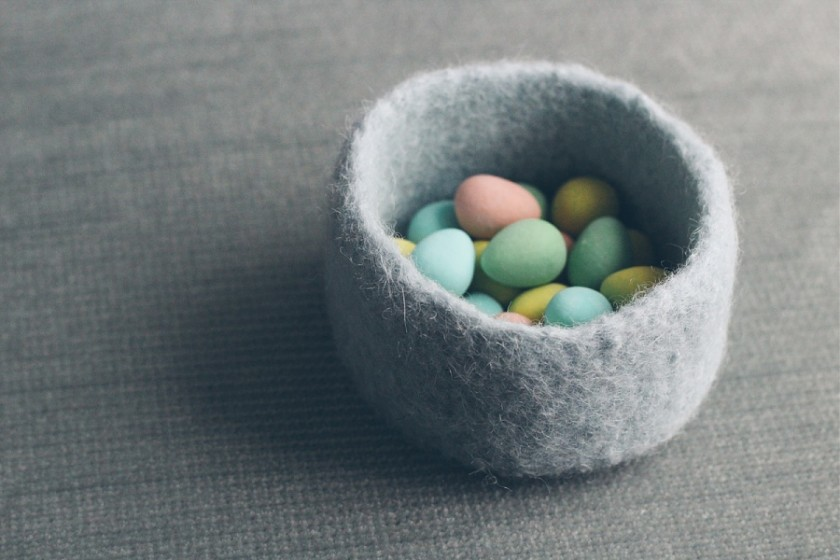 picture of pastel colored Easter chocolate by Cassandra Casley