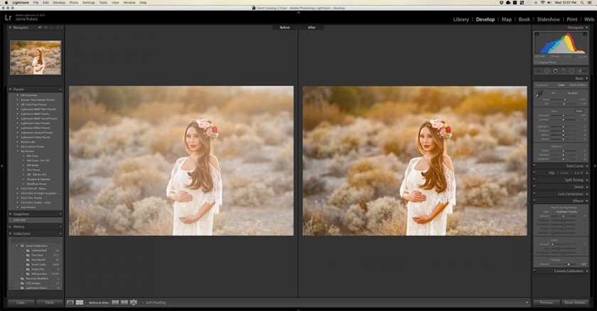 how to use the dehaze slider in Lightroom by Jamie Rubeis