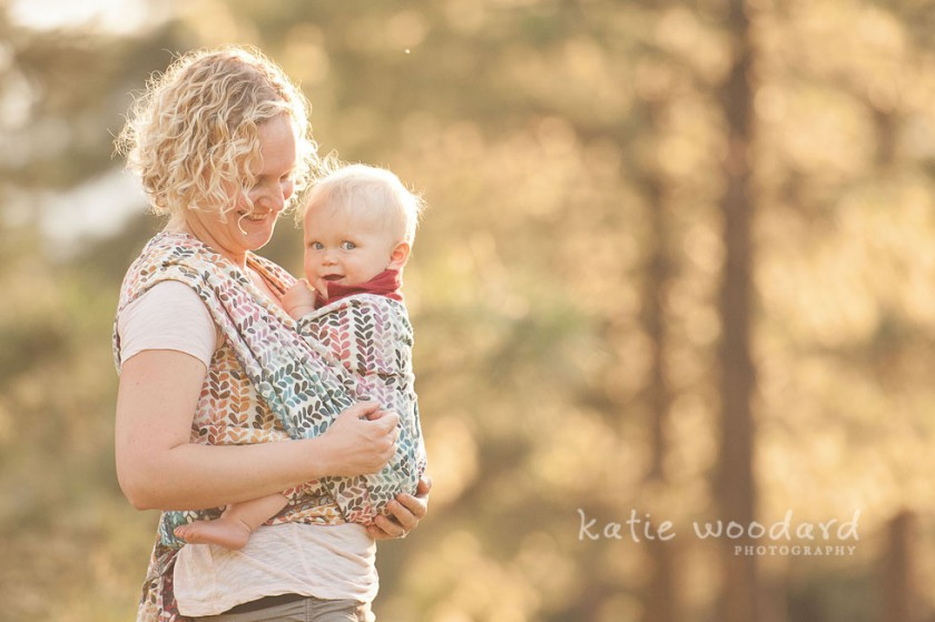 picture of mom wearing baby by Katie Woodard