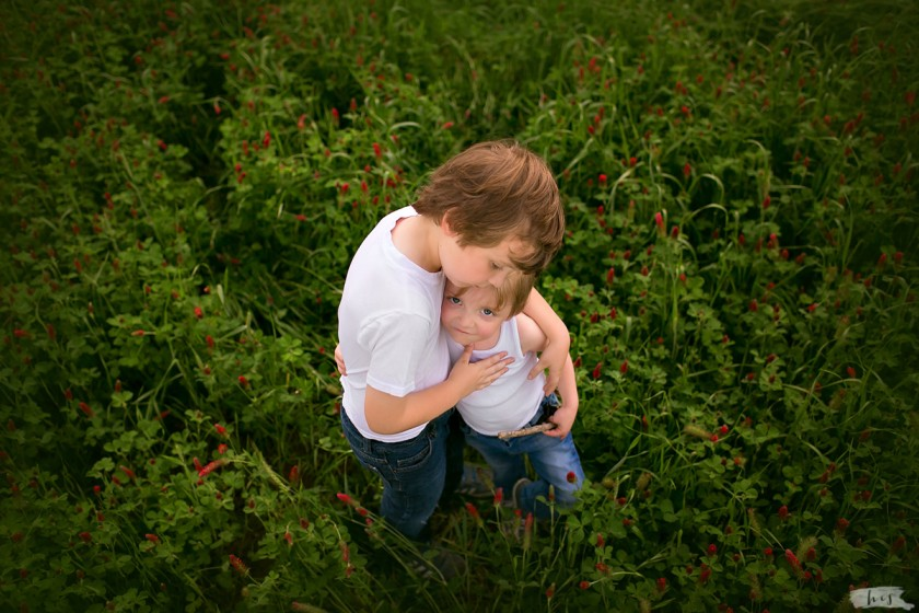 picture of two brothers hugging by Heather Stockett