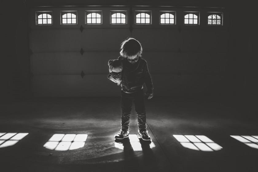 silhouette photo in the garage by Suzie Ziemke