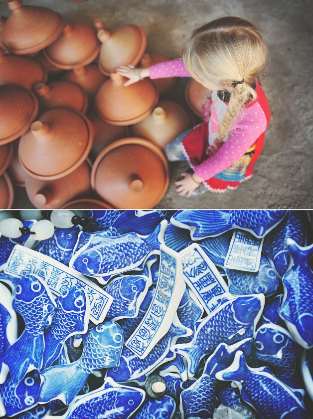 pic of girl in braids looking at pottery by Kirsty Larmour 4