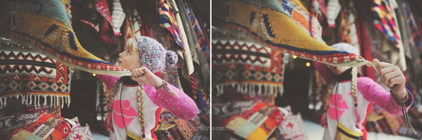 young girl shopping for textiles by Kirsty Larmour 3
