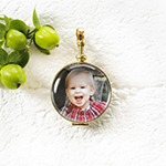 "7:8"" Round Brass Journey Locket"