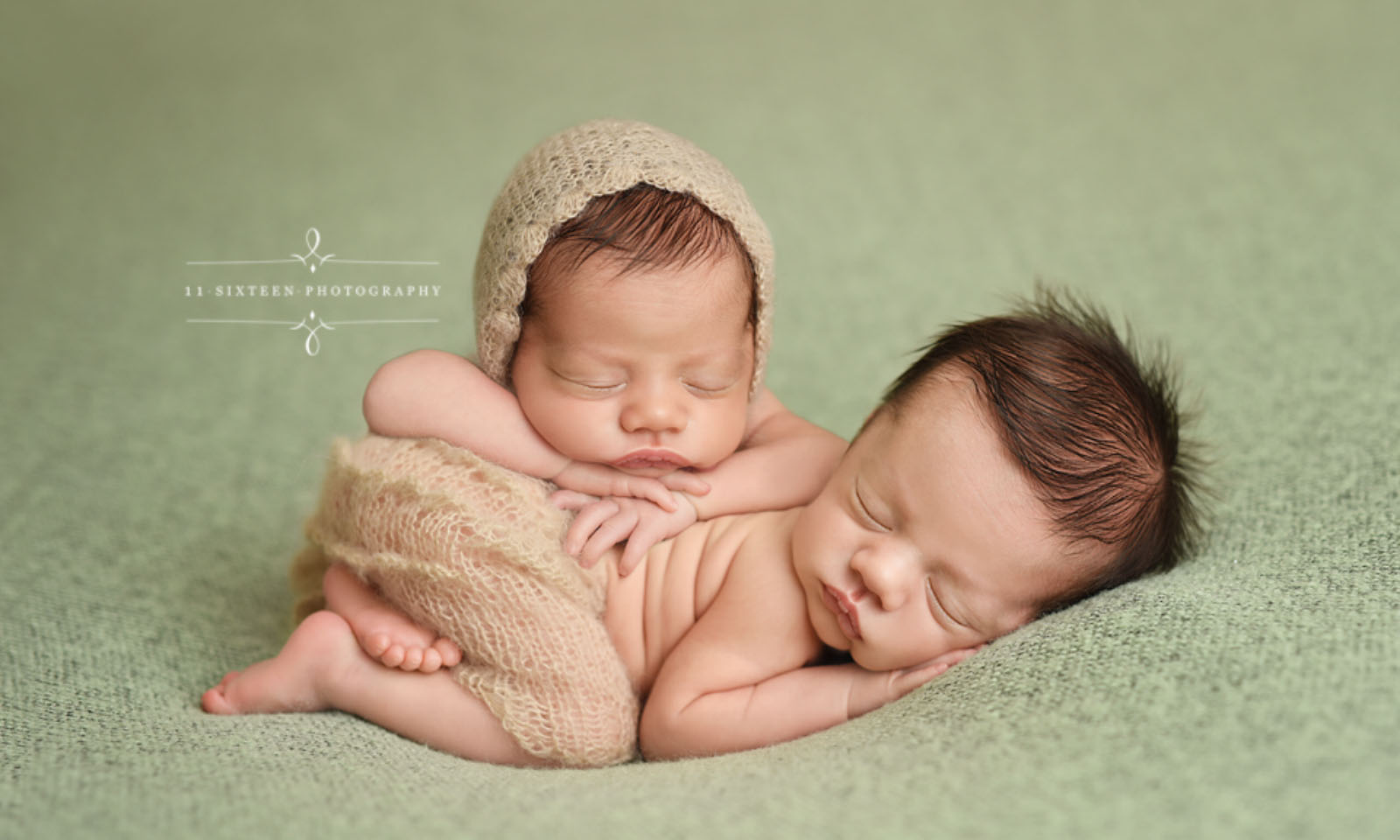 newborn twins portrait with Beautiful Photo Props copy