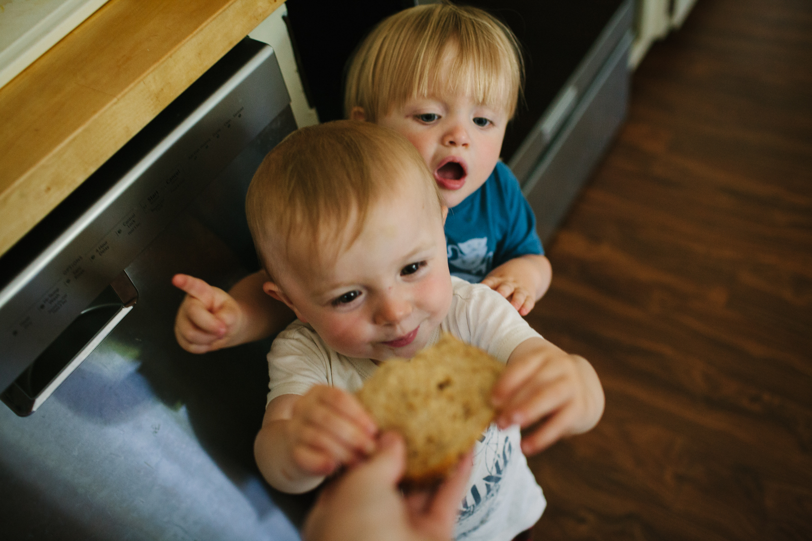 photo of toddler boys eating by Meghan McMackin