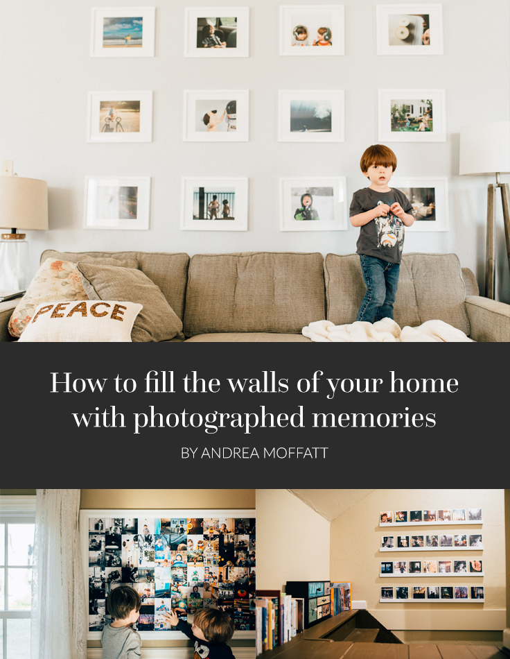 Here's how I display candid, joyful moments all over my house! After all, what are photo stories for if not to remind us of our shared history?