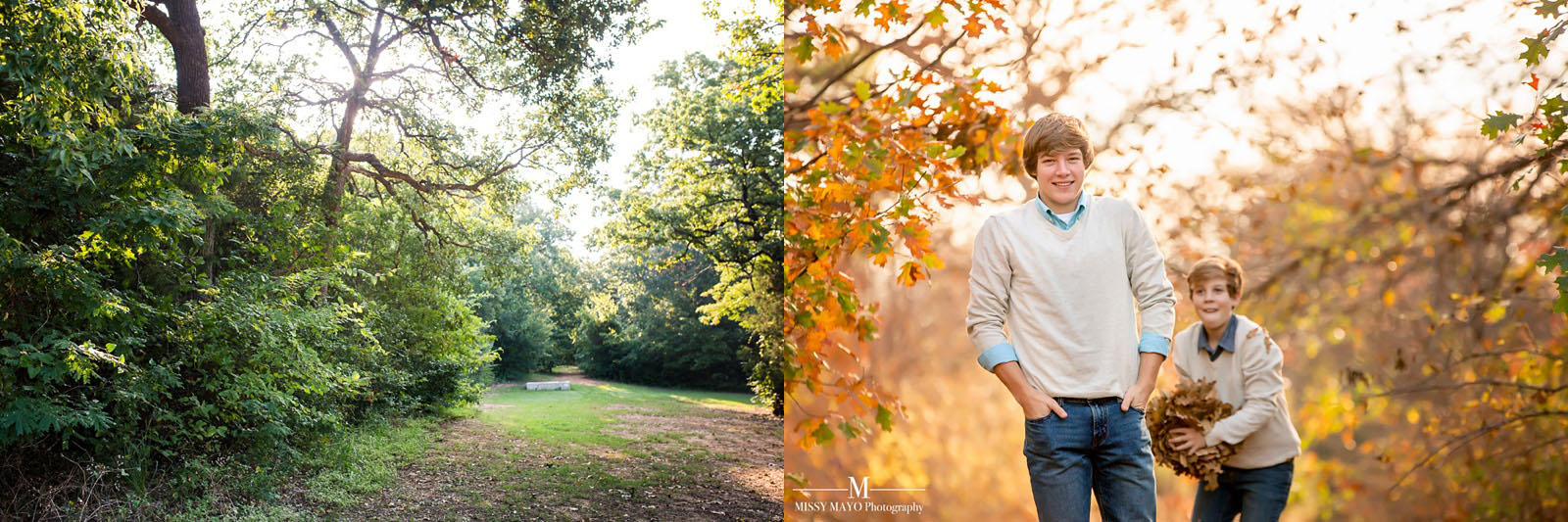 how a location looks different in the summer and fall by Missy Mayo