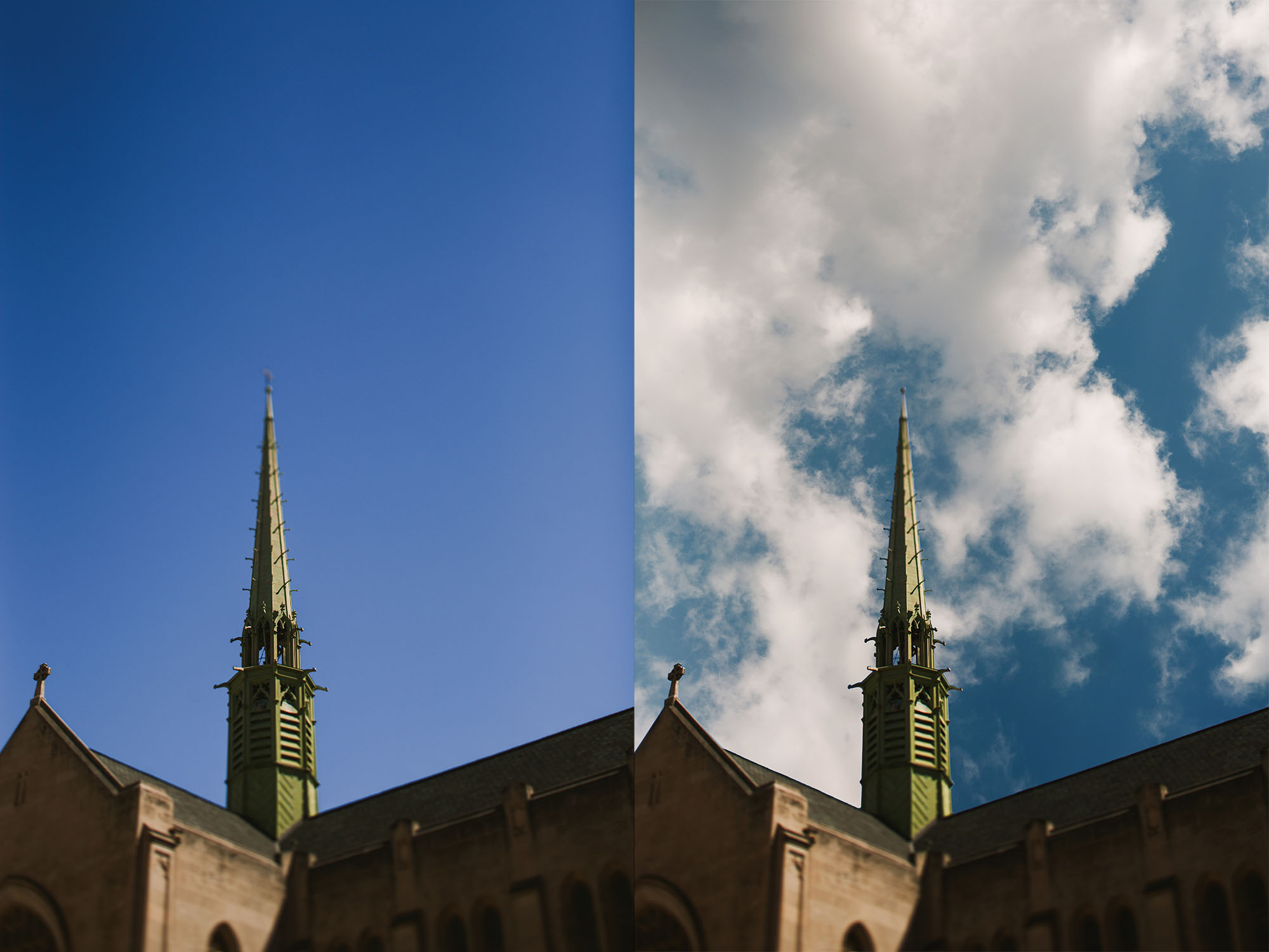 tilt-shift-photo-of-church-with-sky-overlay-added-by-april-nienhuis