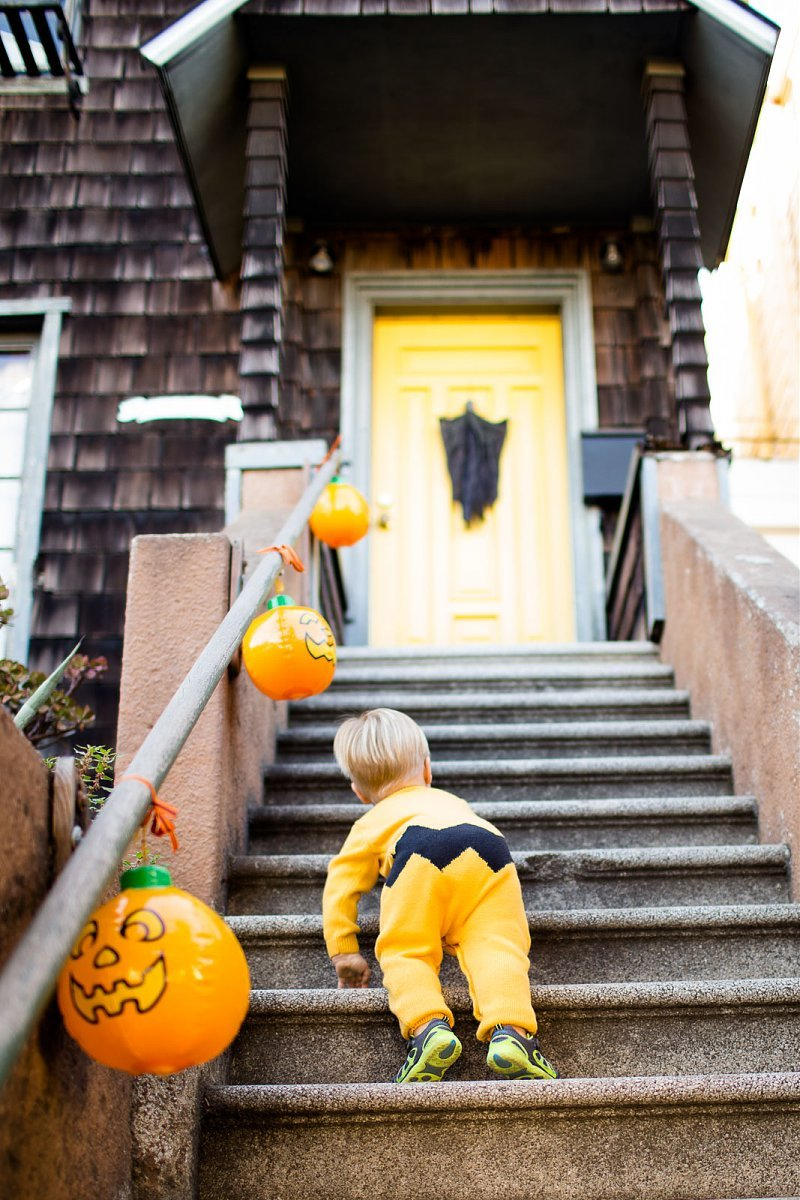 boy dressed like Charlie Brown for Halloween by Tarah Beaven