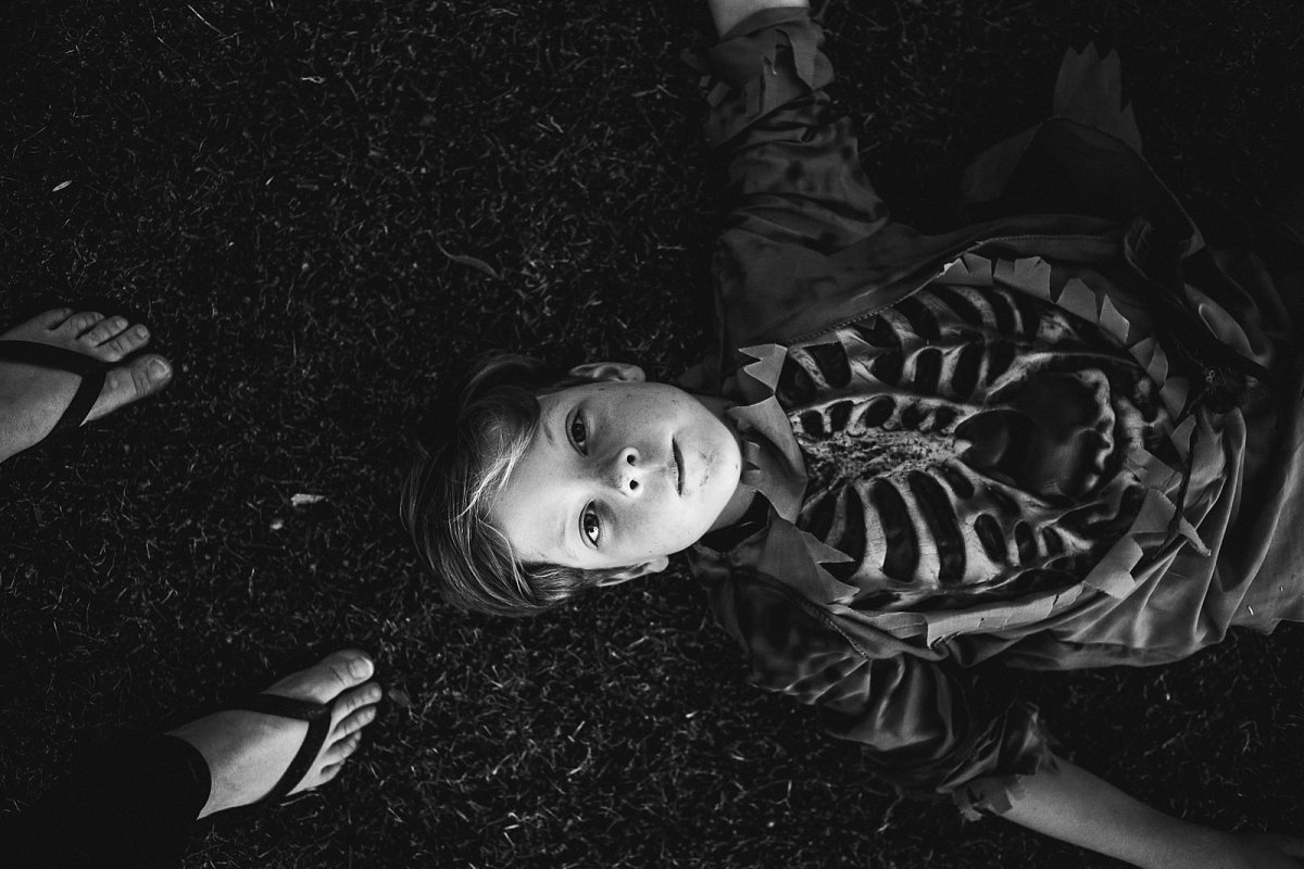 photo of boy ready for Halloween by Jessica Mason