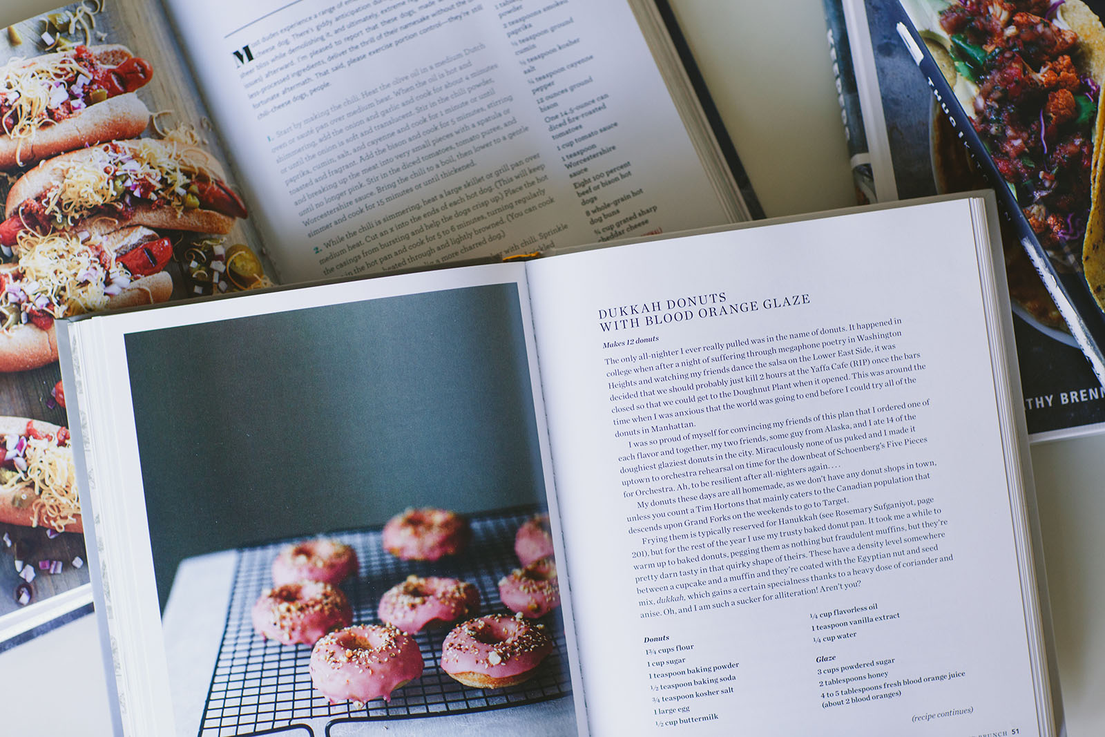 picture of opened cookbooks by April Nienhuis