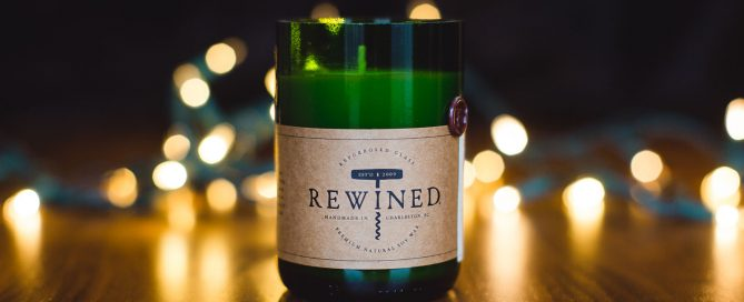 rewined candle by Julia Tulley