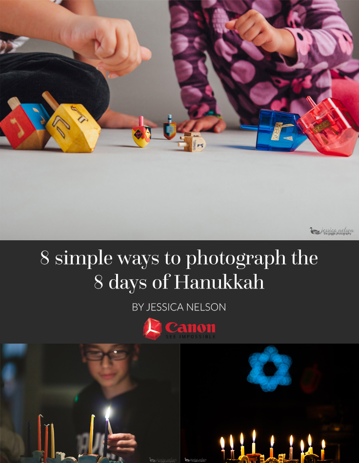 Hanukkah is a fun and special time for our family. I like to take this opportunity to use each day to get more creative with my photography.